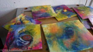 små malerier i gang