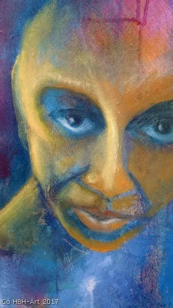 maleri i gang flamencodansers ansigt