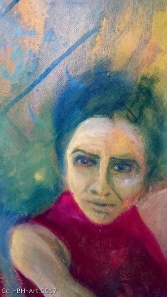 Maleri i gang af flamencodanser