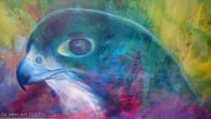 maleri af rovfugl