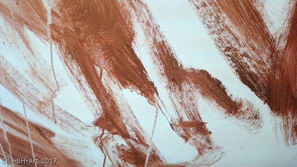 maleri i gang første lag med bronze