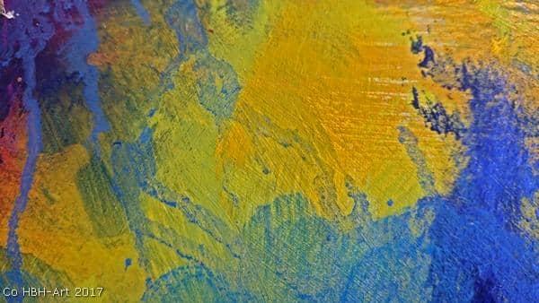 Maleri i gang efter flere lag farver