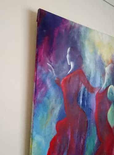 Maleri uden ramme