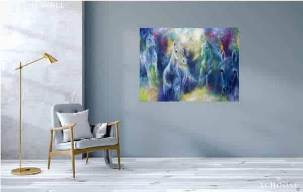 Stort maleri i hjemmet