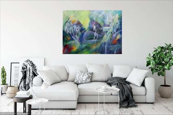 Malerier til stuen - maleri over sofaen