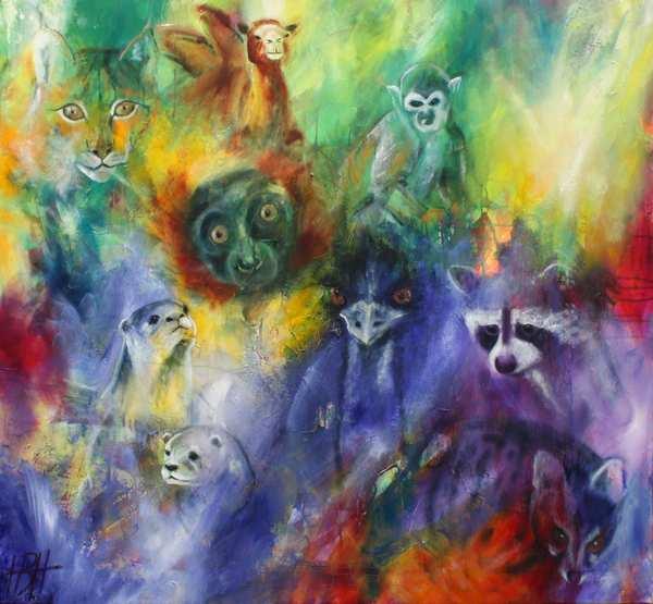 Maleri af vilde dyr for dyrevelfærd. Dyrene fra Odsherred Rescue center blev malet og bortauktioneret som økonomisk hjælp til centret