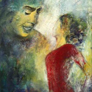 Portrætmaleri af flamencosangeren Cameron de la Isla