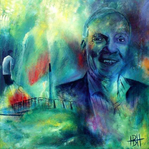 Portræt maleri af direktør på Vestforbrændingen