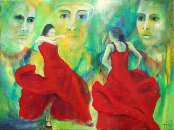Maleri af flamencodanserer