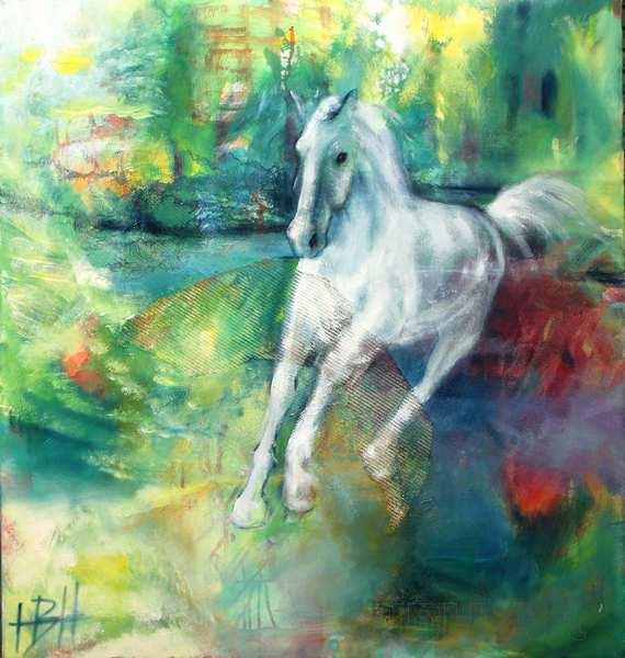 hestemaleri af hvid hest