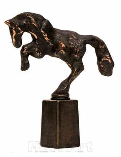 Heste vinprop i bronze
