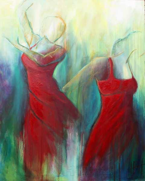maleri af flamencodansere