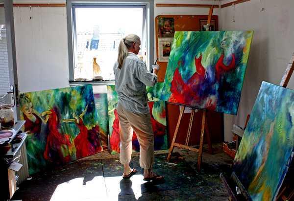 Hvordan bliver man kunstner - mal, mal , mal