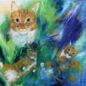 Katteportræt til en katteelsker