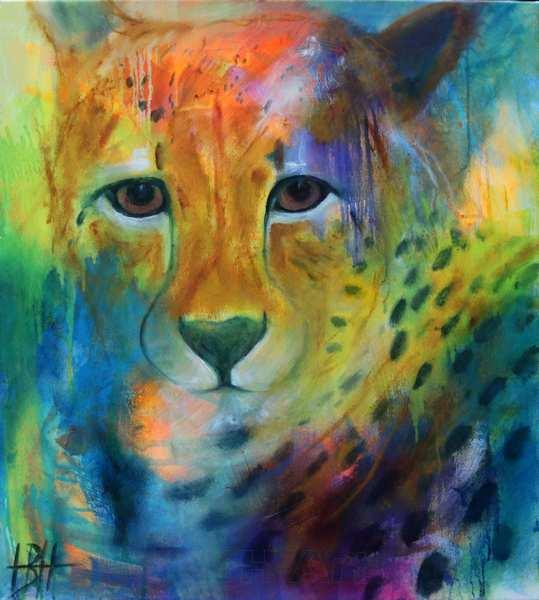 truede dyrearter. Dyremaleri af gepard - cheetah
