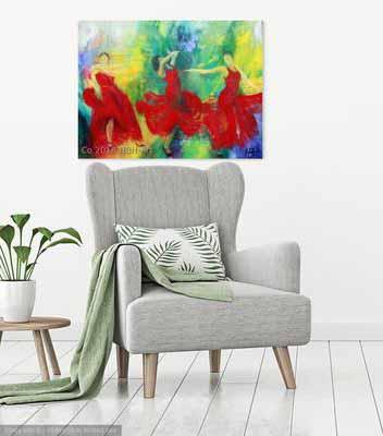 Maleri på væggen
