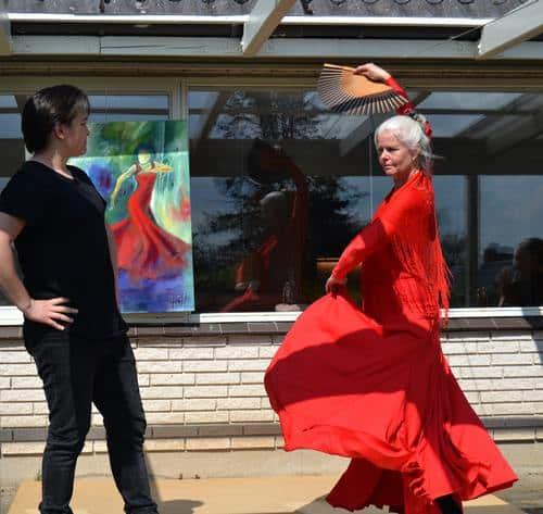 Åbent atelier med flamenco show