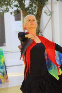 Flamencodanser og kunstmaler Helle Borg Hansen