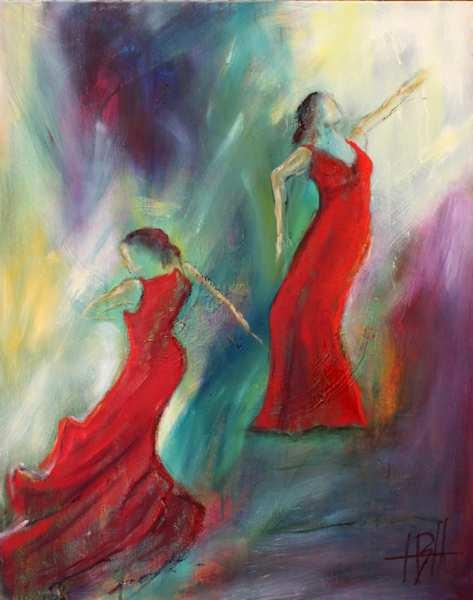 maleri af dansende kvinder