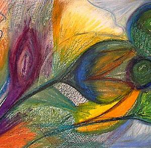 Malekursus i oliepastel. Fantasimaleri malet med oliepastel