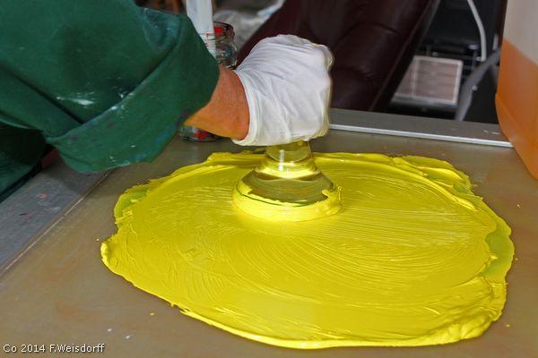 Oliefarver med rene farvepigmenter og linolie