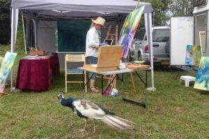 Lær at male - en maleevent i Odsherred rescue center, hvor kunstmaler HBH maler blandt dyrene