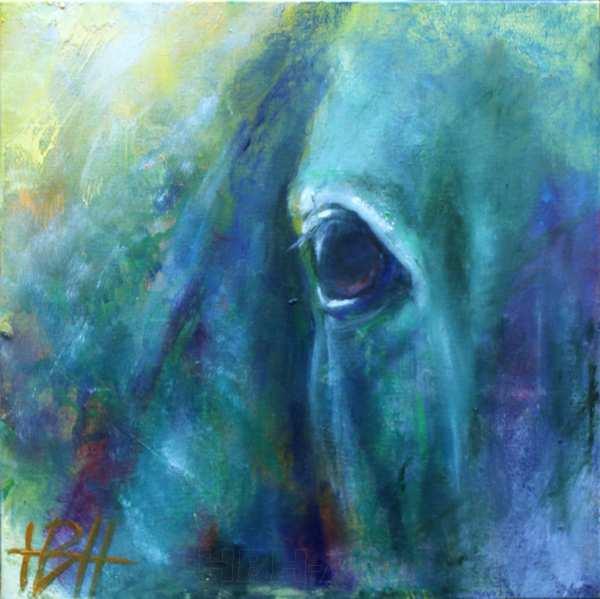 maleri af øjet på en hest