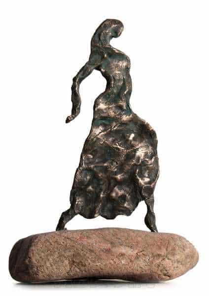 Cire perduestøbt bronzeskulptur