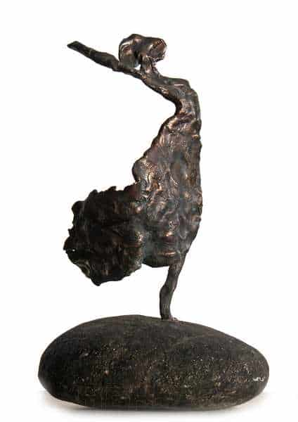 Cire perduestøbt bronzeskulptur af flamencodanser