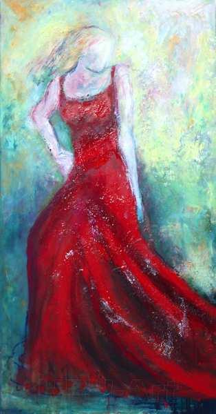smalt maleri af kvinder
