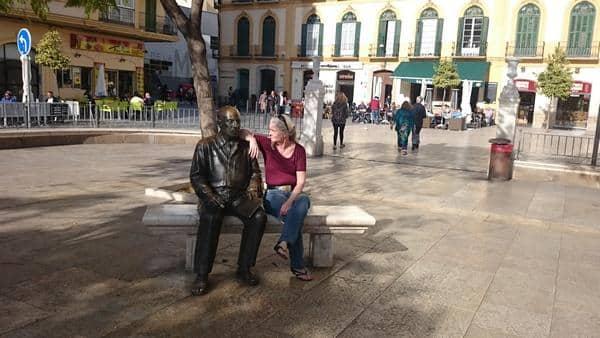 Kunstnere - Picasso statue i Malaga
