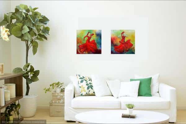 små malerier til stuen