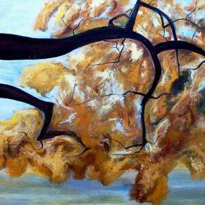 Maleri i efterårsfarver. Få skovens stille energi ind i dit hjem
