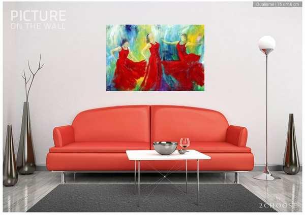 Malerier på væggen i dit hjem. Oliemaleri over sofaen