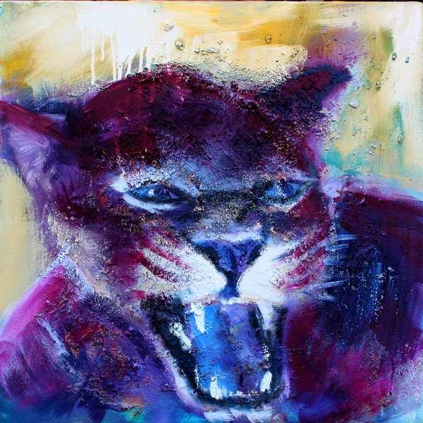 Maleri af violet tiger