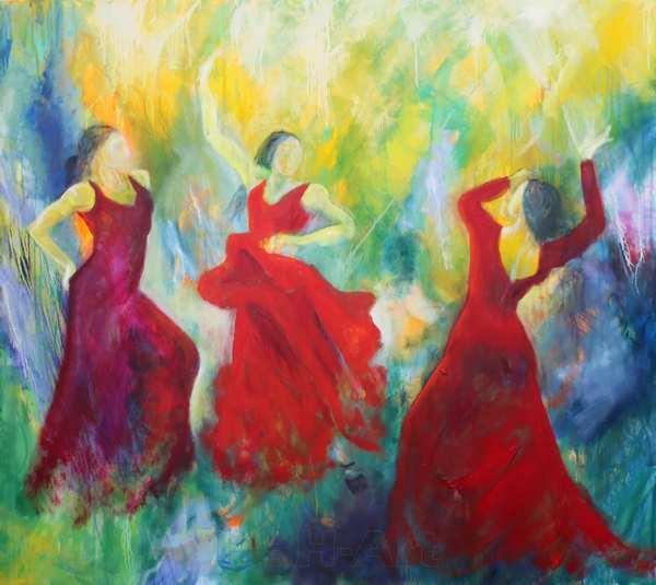Malerier af flamencodansere