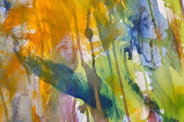Maleri med tyndt lag farve