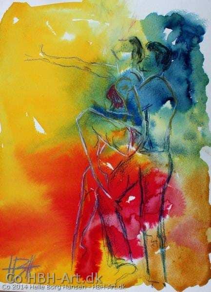 Vild med dans maleri 2014 freestyle