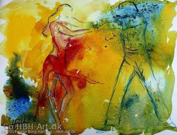 Vild med dans maleri 2014 Rumba