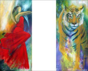 Kunstplakater af tiger og danser