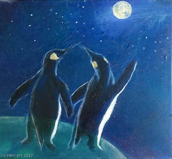 maleri af pingviner på bestilling