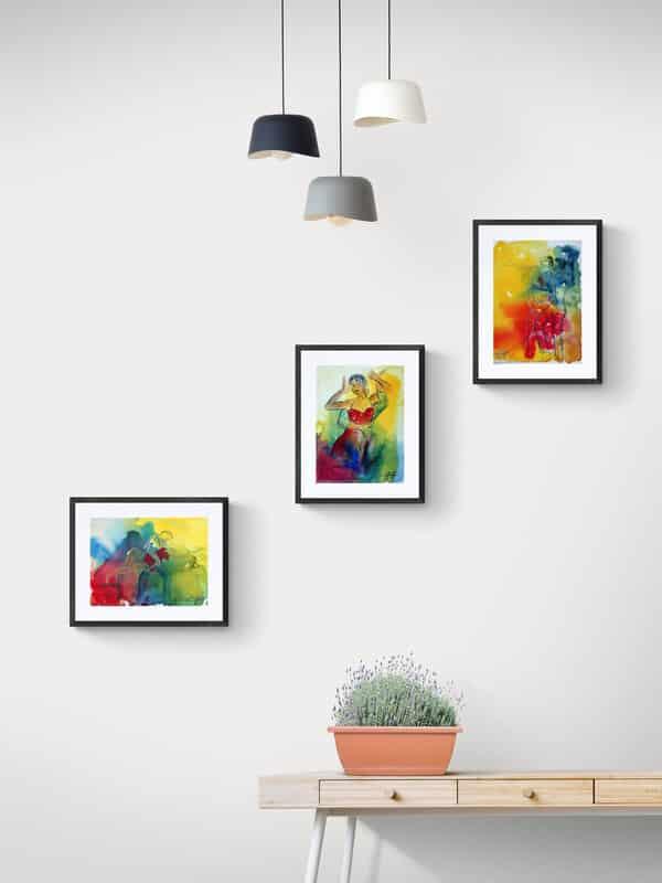 Akvareller over bordet