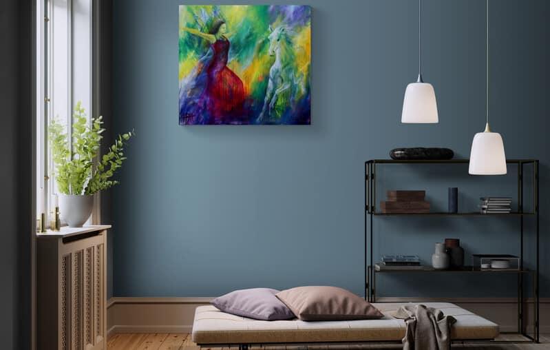 malerier på væggen