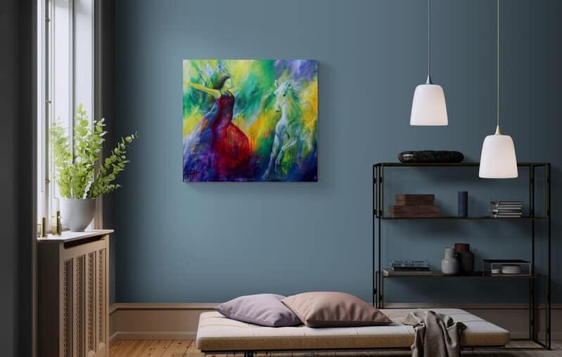 maleri til væggen