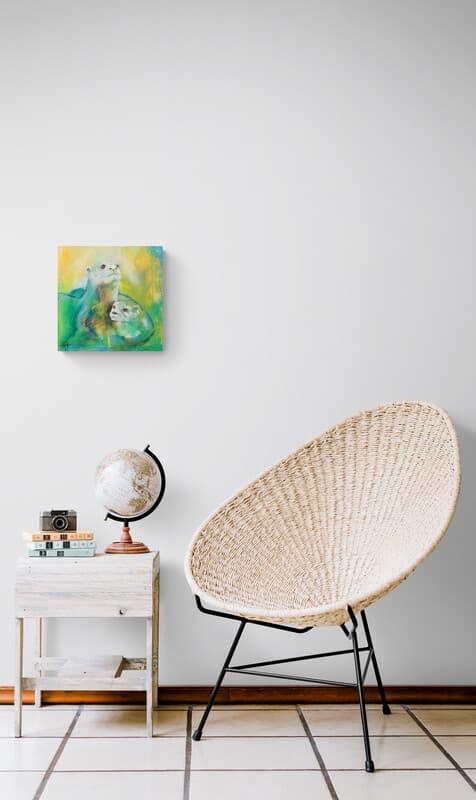 Maleri af tiger på væggen