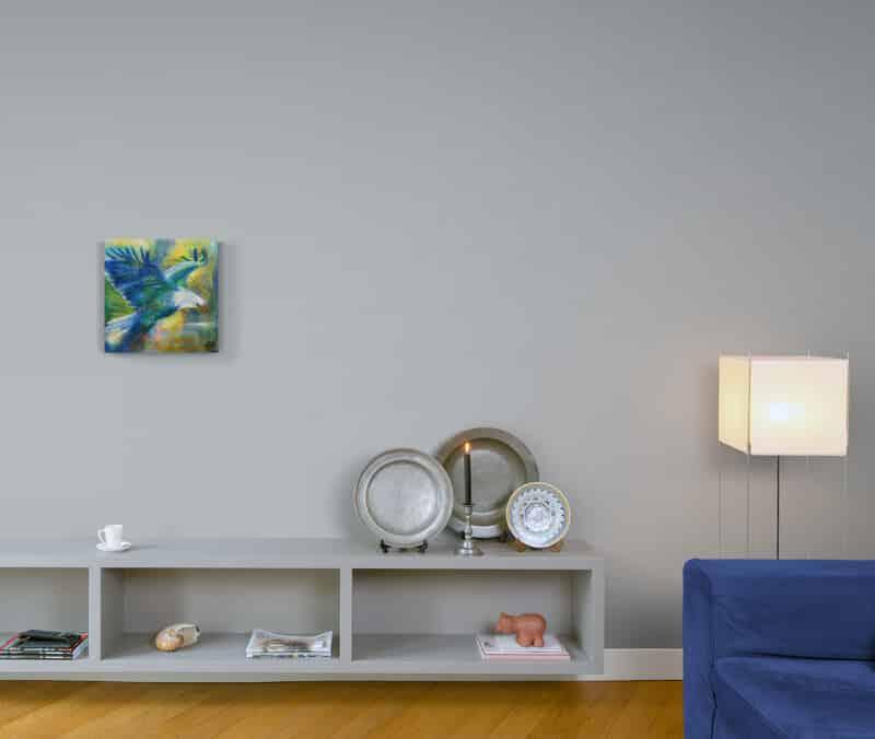 Lille maleri på væggen