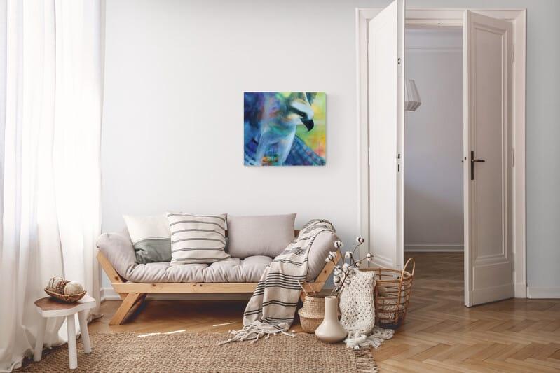 Hænge malerier på væggen