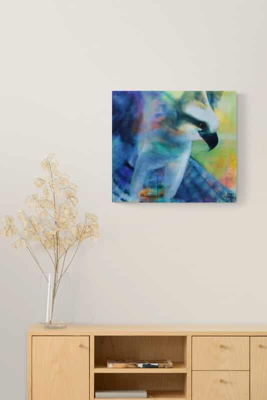 Maleri af ørn på væggen malerier af dyr
