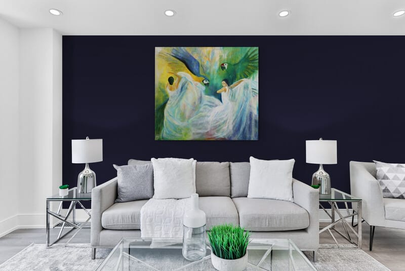 Maleri i stuen