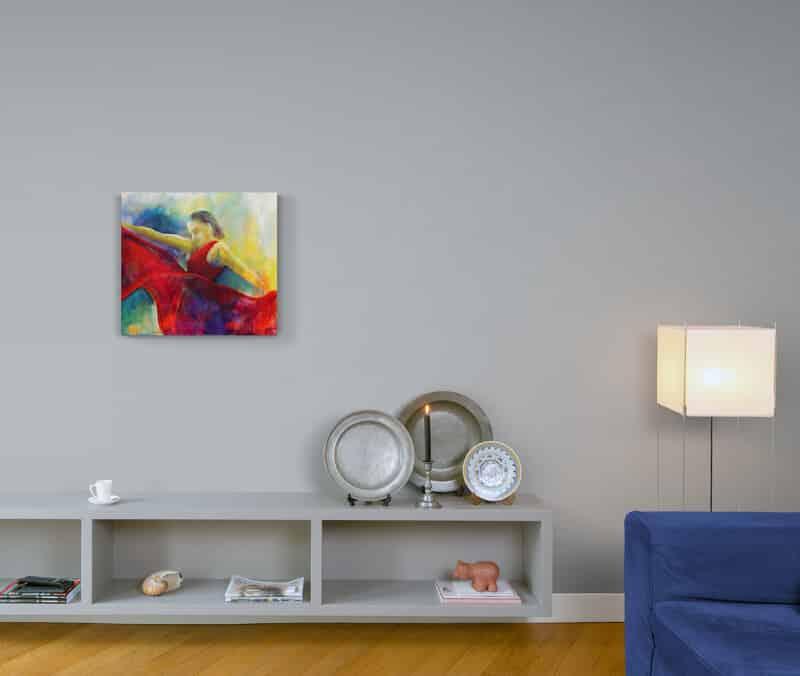 Maleri på væggen flamencodanser